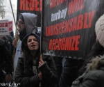 Armenian youth parties stage protest actions against the Turkish Foreign Minister Ahmet Davutoglu, who has arrived in Yerevan to participate in regional BSEC meeting