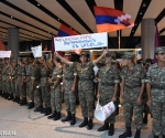 "The Armenian tankers returned back home from ""Tank Biathlon 2014"" which took place in Moscow where they won the second place"