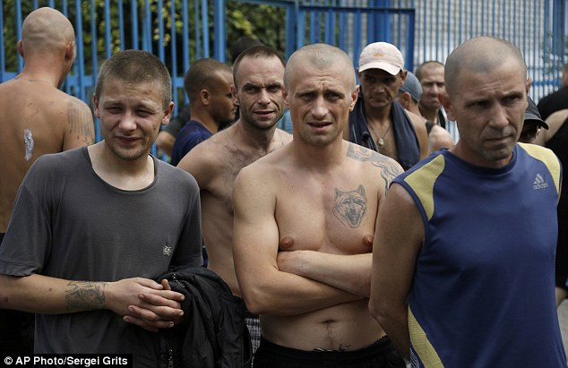 Inmates at Donetsk's high-security prison